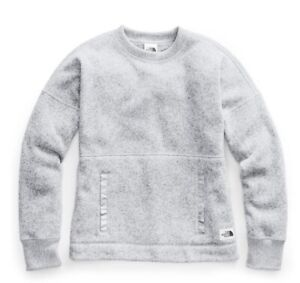 NWT The North Face Women's Crescent Sweater TNF Light Grey Heather ~ $99 ~ LARGE