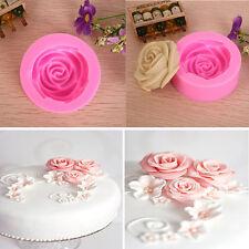 Silicone 3D Rose Flower Mould Tools DIY Fondant Cake Sugarcraft Cutter