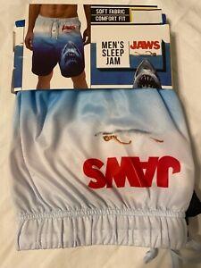 JAWS 2 3D 4 5 movie GREAT White SHARK beach New MEN'S Pajama Sleep LOUNGE Shorts