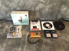 Canon power shot ELPH 100 HS orange chargers case OEM parts and box