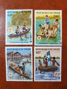 Niger  - 1982 - 75th anniversary of scouting  - 4 stamps  - used