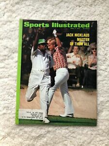 Sports Illustrated Jack Nicklaus Masters 1972 Honda Motorcycle Ford Mustang Ads