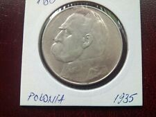 POLAND - 10 ZLOTY 1935 -Jozef Pilsudski - SILVER COINS