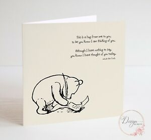 WINNIE THE POOH Husband Boyfriend Wife Girlfriend, Anniversary, Birthday Card