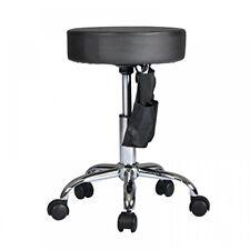 Black Adjustable Hydraulic Rolling Swivel Stool Tattoo Facial Massage Salon S15