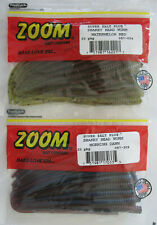 "2 - ZOOM BAIT  Shakey Head Worm - 20/Ct Pack - 5"" - Two Great Colors!"