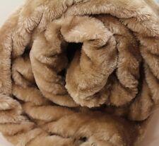 X LARGE Beige pelliccia di visone Coperta divano/letto Gettare! Nuovo di zecca morbida Jumbo Thick Caldo
