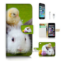 ( For iPhone 6 / 6S ) Wallet Case Cover P2359 Bunny Rabbit