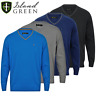 ISLAND GREEN MENS V NECK COTTON TONAL GOLF JUMPER @ 60% OFF RRP !!!!!!!!!!!!!!!!