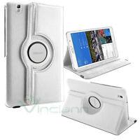 Custodia pelle Rotante stand per Samsung Galaxy Tab Pro 8.4 T320 BIANCA cover