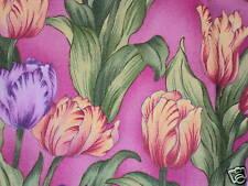 Cuarto gordo Tulipanes Kimiko's Chinoserie Flores 100% algodón Quilting fabric