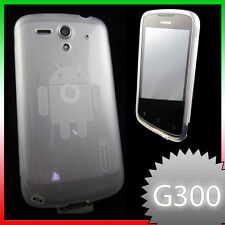 2in1 Pellicola+laccetto+Custodia perfect fit bianca per Huawei G300 Ascend U8815