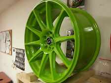17 Inch White Diamond # 0051 Green Rims wheels & Tires 5 X 114.3