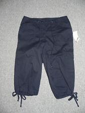 Jones New York Pants Black Size 4 Womens Crop Inseam 16 NWD $59 MISSING BUTTON
