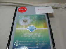 New Sleep Philosophy Bed Guardian Two King Pillowcases 500 Thread Count ~ Blue