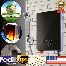 6500W Tankless Instant Electric Hot Water Heater Boiler Bathroom Shower System