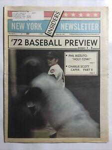 1972 Kyle Rote's New York Insiders Newsletter Baseball Preview Tom Seaver Cvr.
