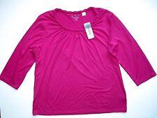 NEW NWT Chico's Design Fuchsia Pink Tee T-shirt Top 3 Woman's Blouse Shirt