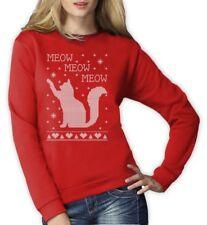 Cat Ugly Christmas Sweater Meow Purr Cute Xmas Apparel Women Sweatshirt Best