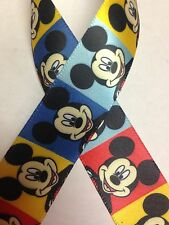 "7/8"" Disney Ribbon - Mickey Mouse Ribbon - 3 yards Multicolor Mickey Mouse"