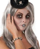 Skelett Damen Zubehör # Totenkopf Armband Halloween Voodoo Kostüm