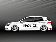 1x XXL Aufkleber Set NYPD Police Car  Sticker US Style Winterauto Spaß SD006