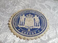 Siegelmarke - Staatsanwaltschaft b.d. koen. Preuss. Landgericht Erfurt