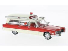 Cadillac S&S Ambulance Red/White 1966 NEO43898 1:43