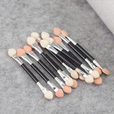 12Pcs Makeup Double-end Eye Shadow Eyeliner Brush Sponge Applicator Tool EOX