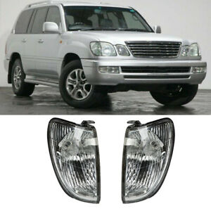 Fits Lexus LX470 1998-07 2x Front Right+Left Turn Signals Corner Lights No Bulb