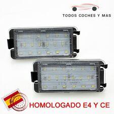 PLAFONES LED MATRICULA SEAT LEON 1M MK1 IBIZA ALTEA HOMOLOGADO E8 CE LUCES LED