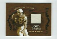2006 Donruss Classics Lance Alworth Jersey Card, Legendary SP #/250, Chargers!