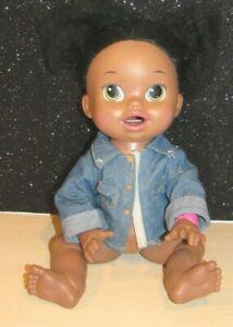 2014 Baby Alive Super Snackin Sara Black African American English/Spanish Doll
