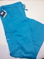 Cherokee Womens Cell Phone Pocket Size 2X XXL Sky Blue Scrub Pant 4044