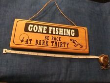 Gone Fishing Wooden Wall Hanging