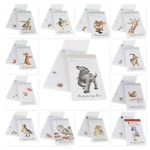 Wrendale Designs Magnetic Shopping List Pad with Illustrated Characters 21x10cm