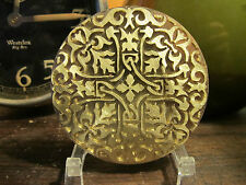 ORNATE HISTORIC ROUND Leather Bookbinding Finishing tool Stamp EMBOSSING die