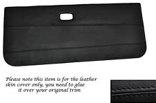 BLACK LEATHER 2X FRONT DOOR CARDS LEATHER SKIN COVERS FITS VW GOLF MK1 CABRIO