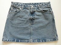 Calvin Klein Above Knee Distressed Blue Denim Jean Skirt Womens Juniors Size 9
