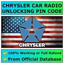 CHRYSLER RADIO PIN CODE DECODE UNLOCK CRUISER VOYAGER 300 PACIFICA EXPERT 200 ✅