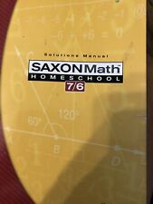 Saxon Math Homeschool 7/6 Solutions Manuel
