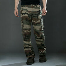 Mens Military Combat Trousers Tactical Pocket Cargo Bottom Camouflage Camo Pants