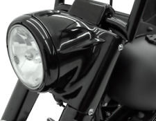 "Drag Specialties 7"" Black Headlight Cowl Nacelle Kit Harley Softail FL 86-2017"