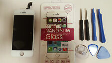 DISPLAY LCD APPLE IPHONE 5S BIANCO TOUCH SCREEN COVER FRAME VETRO SCHERMO AAA+