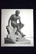 Museo Nazionale di Napoli - Mercurio Assiso, statua in bronzo Incisione del 1876