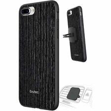 Iphone 7 Plus 8 Plus Wood Case Black Cover + Car Vent Mount Holder By Evutec