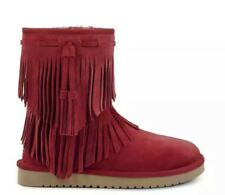 Koolaburra by UGG 1015897 Ankle Cable Winter Boots Woman US 7 Maroon Red NEW $95