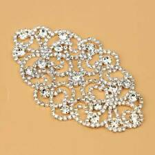 Silver Crystal Rhinestone Appliques Sewing Wedding Bridal Dress Belt Crafts DIY