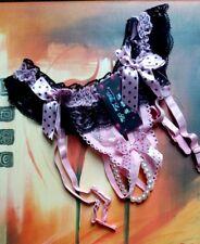 Dessous Perlen Spitzen String Straps Höschen Pink
