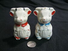 Vintage Sitting Young Cow Salt and Pepper Shakers American Bisque          16